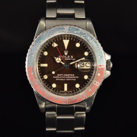 ROLEX GMT REF. 1675 LONG E TROPICAL